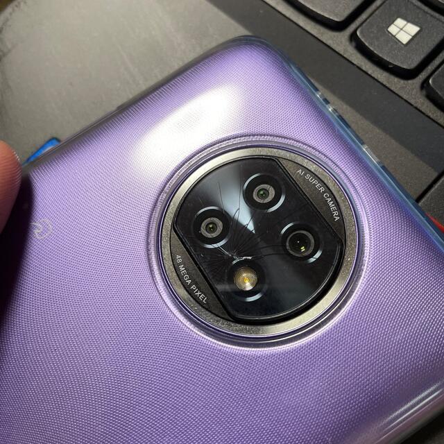 Redmi Note 9T カメラ亀裂あり スマホ/家電/カメラのスマートフォン/携帯電話(スマートフォン本体)の商品写真