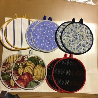 手作り鍋つかみ,コースター2枚組10枚(キッチン小物)