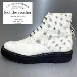 ウェンディズアンドフットザコーチャー(Wendy's & foot the coacher)の◎レア【foot the coacher】ハイカット レザー 革靴 穴あき 高級(ブーツ)