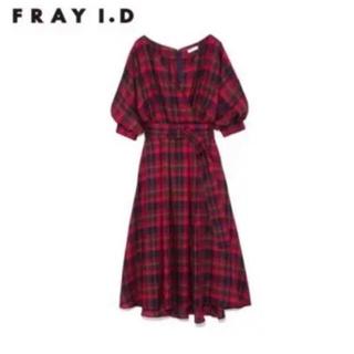 FRAY I.D - 【FRAY  I.D】チェックフレアワンピース