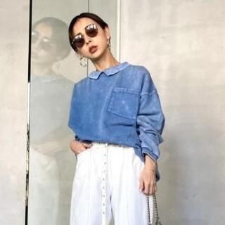 Ameri VINTAGE - ★Ameri VINTAGE★ RIB COLLAR SWEAT インディゴ