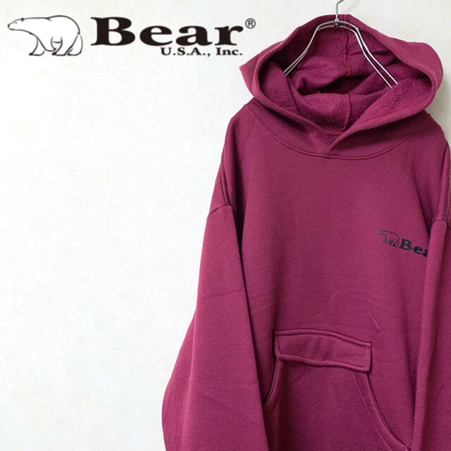 Bear USA(ベアー)のBear USA ベアー 90年代 プルオーバー  パーカー ロゴ ワンポイント メンズのトップス(パーカー)の商品写真