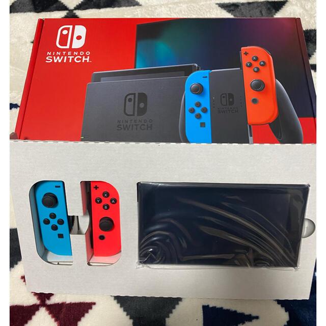 Nintendo Switch(ニンテンドースイッチ)の【jun様専用】Nintendo Switch  本体 新型 バッテリー長持ち  エンタメ/ホビーのゲームソフト/ゲーム機本体(家庭用ゲーム機本体)の商品写真