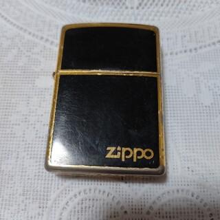 ジッポー(ZIPPO)のZIPPO 金・黒 (DuPont風) オイルライター(タバコグッズ)