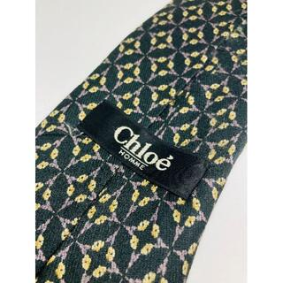 クロエ(Chloe)のChloe/絹 100%/ブラック/黒系/ビジネス/ネクタイ/日本製(ネクタイ)