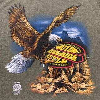 ハーレーダビッドソン(Harley Davidson)の80s MOTOR LIVE RIDE CYCLE Eagle T-SHIRT(Tシャツ(半袖/袖なし))