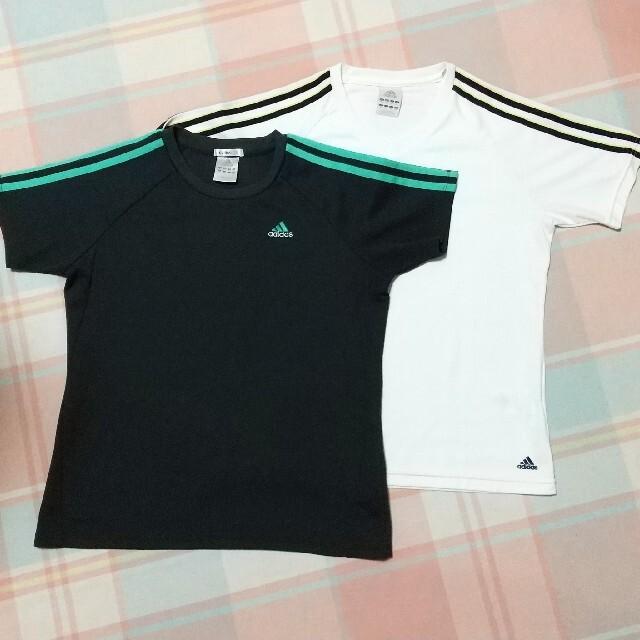 adidas(アディダス)のアディダス トレーニングウェア/Tシャツ 2枚セット M レディースのトップス(Tシャツ(半袖/袖なし))の商品写真