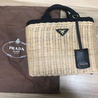 プラダ(PRADA)のPRADA カゴバッグ(かごバッグ/ストローバッグ)
