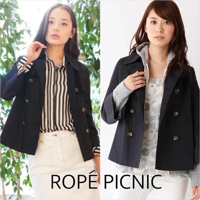 Rope' Picnic(ロペピクニック)のROPE PICNIC ツイル ショート トレンチ*ローリーズファーム VIS レディースのジャケット/アウター(トレンチコート)の商品写真