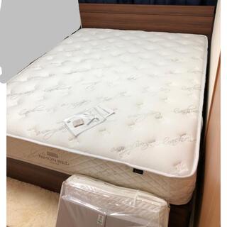 日本ベッド クイーンサイズ マットレスとフレーム(クイーンベッド)