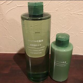 MUJI (無印良品) - MUJI ハーバル化粧水 高保湿大容量 400ml ハーバル乳液150ml
