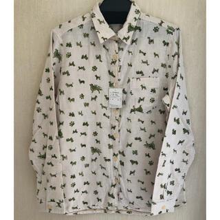 ドッグデプト(DOG DEPT)のDOG DEPT 犬柄シャツ ホワイト Mサイズ(シャツ/ブラウス(長袖/七分))
