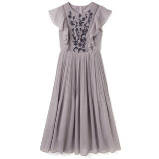GRL - GRL 花柄刺繍フリルシフォンプリーツワンピース ラベンダー ドレス 新作 人気