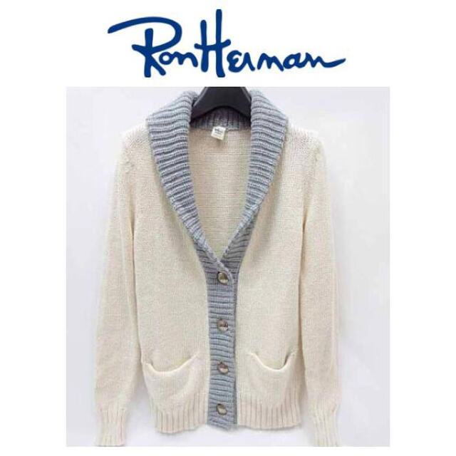 Ron Herman(ロンハーマン)の本物 Ron Herman ロンハーマン 二ット カーディガン ジャケット XS レディースのトップス(カーディガン)の商品写真