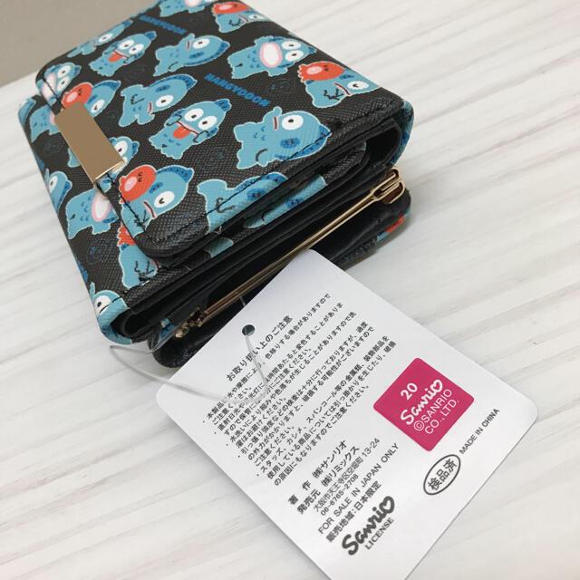 サンリオ(サンリオ)の新品未使用 タグ付き サンリオ ハンギョドン 財布 折り財布 総柄 レディースのファッション小物(財布)の商品写真