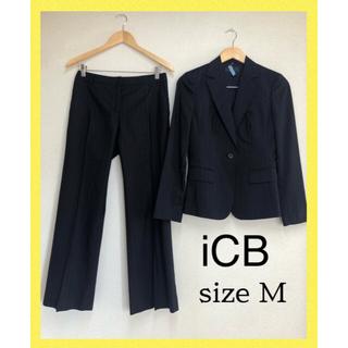 ICB - iCBアイシービー スーツ パンツスーツ 9号 ネイビー