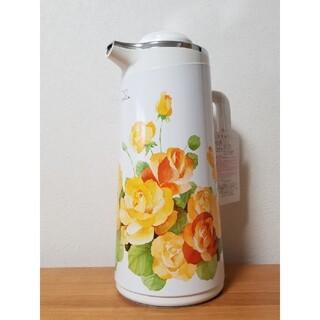 ゾウジルシ(象印)の昭和レトロ 象印 花柄 魔法瓶 1.9リットル 未使用品(テーブル用品)