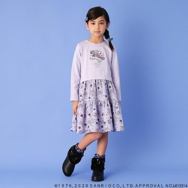 ANNA SUI mini(アナスイミニ)のアナスイミニ キキララ ワンピース 100 キッズ/ベビー/マタニティのキッズ服女の子用(90cm~)(ワンピース)の商品写真