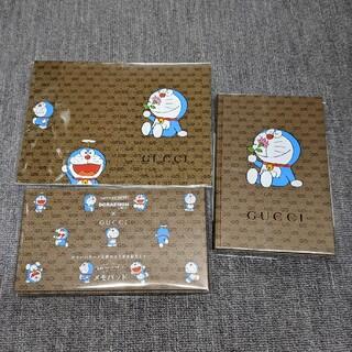 グッチ(Gucci)のGUCCI✕ドラえもん付録 コラボノート、便箋、メモパッドの3点セット(ノート/メモ帳/ふせん)
