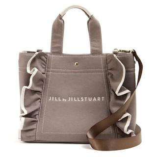 JILL by JILLSTUART -  【新品】JILL by JILLSTUART フリルトートバッグ 大 モカ