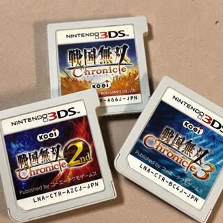 ニンテンドー3DS(ニンテンドー3DS)の戦国無双chronicle  3種セット(携帯用ゲームソフト)