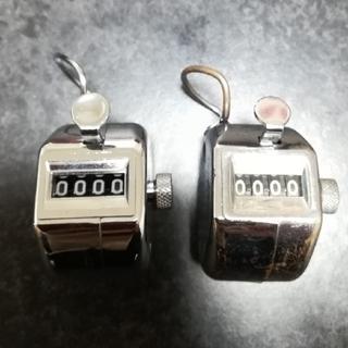 プラス(PLUS)の👛大特価👛2個セット【PLUS】ハンドカウンター 数取器 手掌用 (その他)