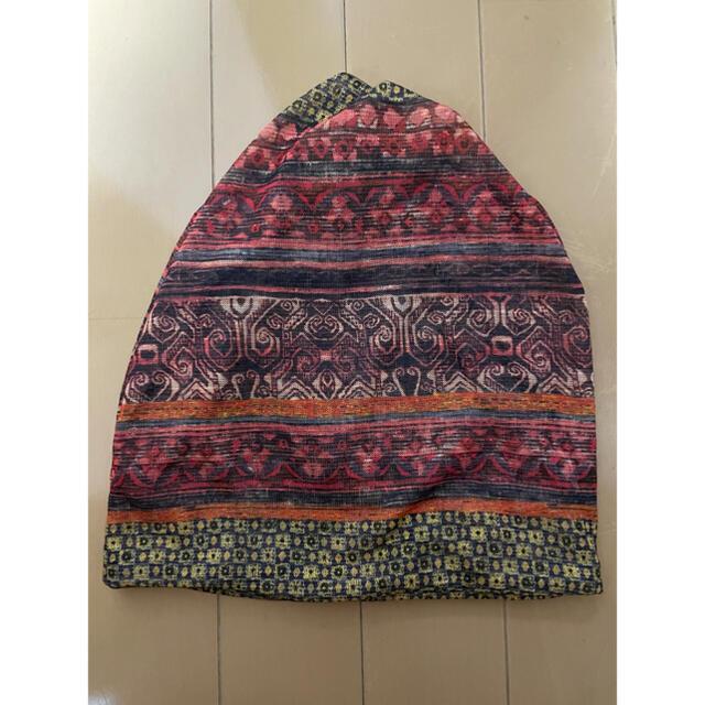 エスニック 3way サマーニット帽 ネックウォーマー ターバン キャンプ レディースの帽子(ニット帽/ビーニー)の商品写真