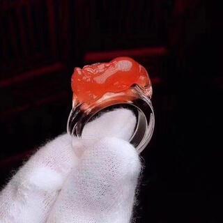 【高級】レッドクォーツ リング 17mm(リング(指輪))