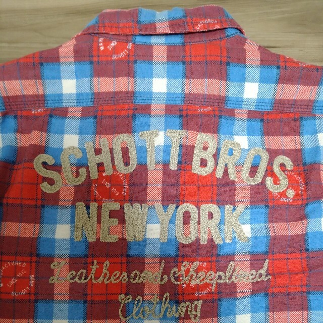 schott(ショット)のSchott 刺繍入り旧作ネルシャツ メンズのトップス(シャツ)の商品写真