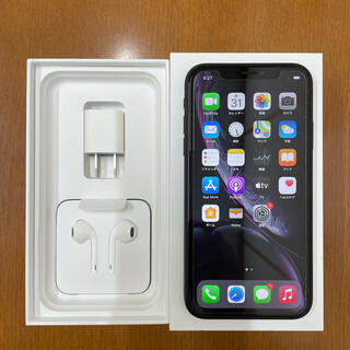 iPhone - 美品 iPhone XR 64GB ブラック・リチウム充電器付