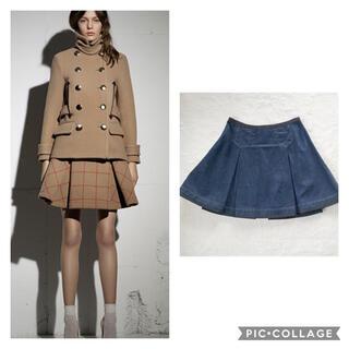 サカイラック(sacai luck)のsacai luck デニムボックスプリーツスカート 13AW(ミニスカート)