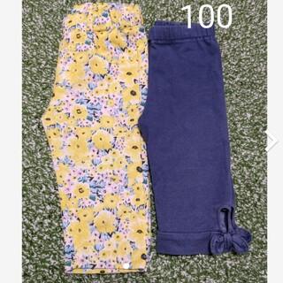 エニィファム(anyFAM)の100 デニム風☆花柄 パンツ  2枚セット(パンツ/スパッツ)
