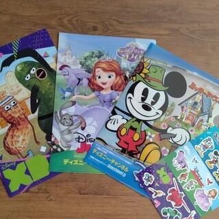 ディズニー(Disney)の【新品・未使用】クリアファイル 3枚 セット シール(クリアファイル)