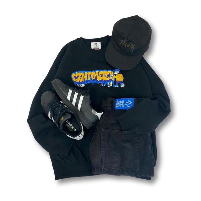carhartt(カーハート)のcentimeter Graffiti logo sweat(ブラック) メンズのトップス(Tシャツ/カットソー(七分/長袖))の商品写真