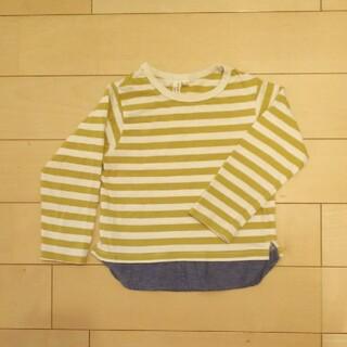 サマンサモスモス(SM2)の裾シャツ切り替えボーダー長袖ティーシャツ(Tシャツ/カットソー)