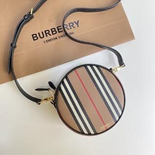 BURBERRY - アイコンストライプ E-キャンバス ルイーズバッグ