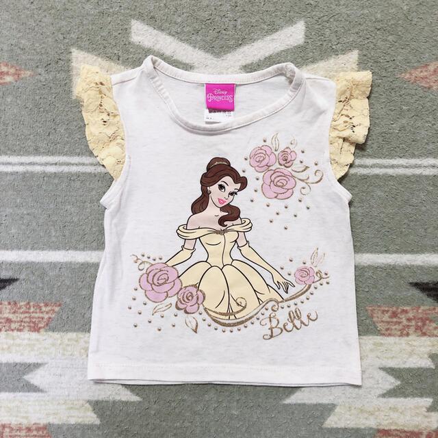Disney(ディズニー)のベビー、子供服どんどん出品❣️Disney ディズニー プリンセス ベル 2T キッズ/ベビー/マタニティのキッズ服女の子用(90cm~)(Tシャツ/カットソー)の商品写真