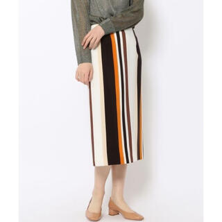 TOMORROWLAND - トゥモローランド ストライプタイトスカート