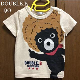 DOUBLE.B - ミキハウス ダブルビー 半袖 シャツ Tシャツ 90 アフロ 春 夏 ファミリア