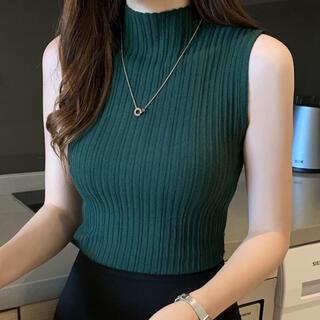 Lily Brown - ノースリーブトップス タンクトップ(グリーン)