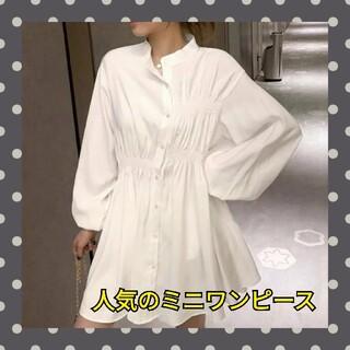 dholic - 韓国ファッション シャツワンピース 人気のワンピース チュニック ミニワンピース