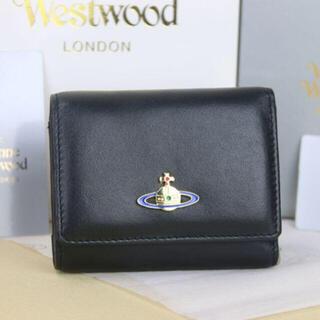 ヴィヴィアンウエストウッド 三つ折り財布 レザー 新品 ブラック