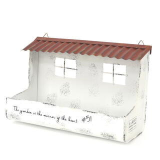 赤(茶)い屋根の家 (ジブリ・絵本の世界)プランター 新品(ドライフラワー)