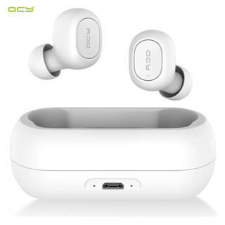 QCY ワイアレスイヤホン Bluetooth ホワイト