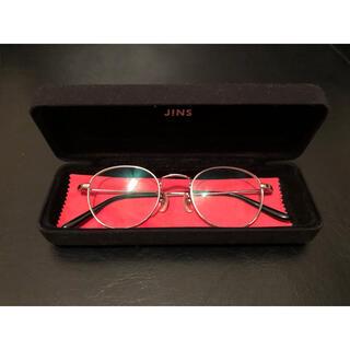 ジンズ(JINS)のJINS 眼鏡 シルバー ジンズ  クラシック メタル 丸眼鏡(サングラス/メガネ)