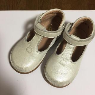 ポムダピ  シルバー  ストラップ靴  22   (フォーマルシューズ)