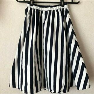 ロデオクラウンズワイドボウル(RODEO CROWNS WIDE BOWL)の美品♡RODEO♡ストライプフレアスカート(ひざ丈スカート)