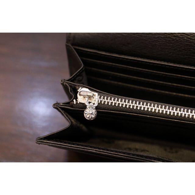 Chrome Hearts(クロムハーツ)の美品 クロムハーツ 長財布 ワニ革 925シルバー メンズのファッション小物(長財布)の商品写真