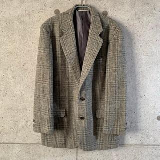 【上質‼︎】ペリーエリス ウール グレンチェック テーラードジャケット 古着 (テーラードジャケット)