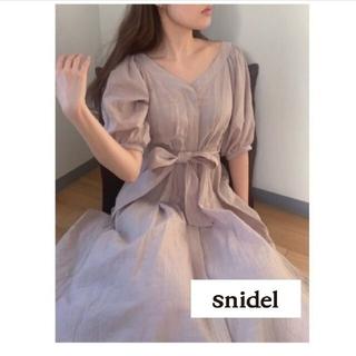 snidel - ✨SNIDEL✨コットンステッチワンピース ベージュ